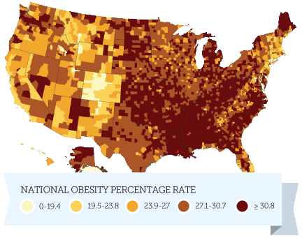 US Obesity Rate Chart
